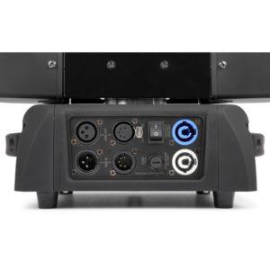 led moving head set in flightcase