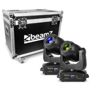led moving heads in flightcase