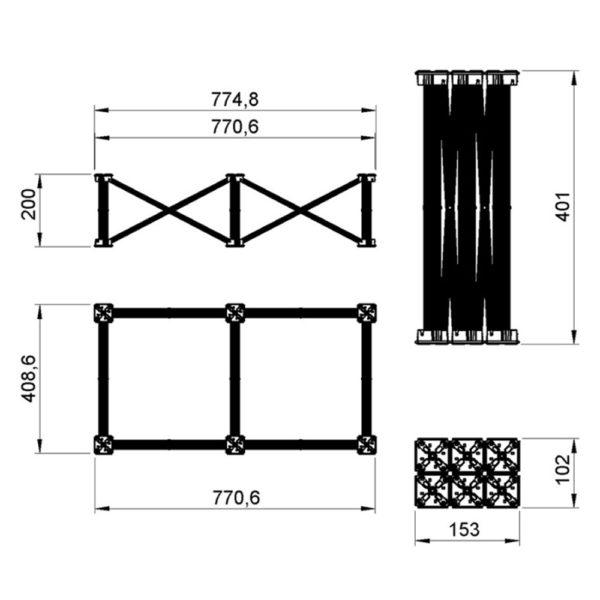 20cm Stage Deck Riser