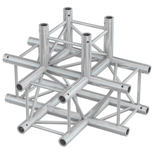Square Truss 4 Way Tee Junction