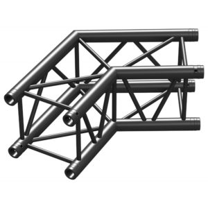 Square Truss Corner Black