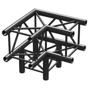 Square Truss Corner 90 Black