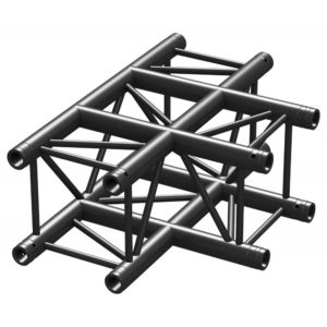 Square Truss T Junction Black