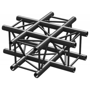 Square Truss 4 Way Junction Black