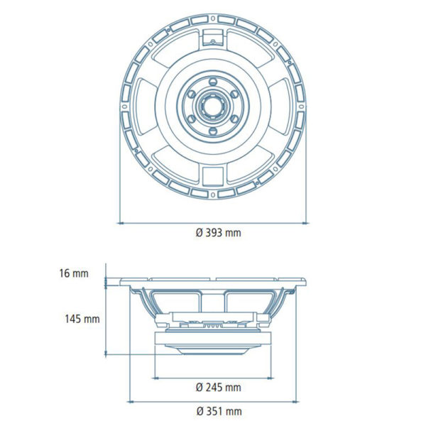"""RCF 15"""" LF15X401 replacement speaker cone"""