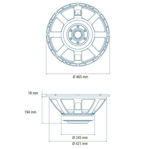 """RCF 18"""" LF18X451 replacement speaker driver"""
