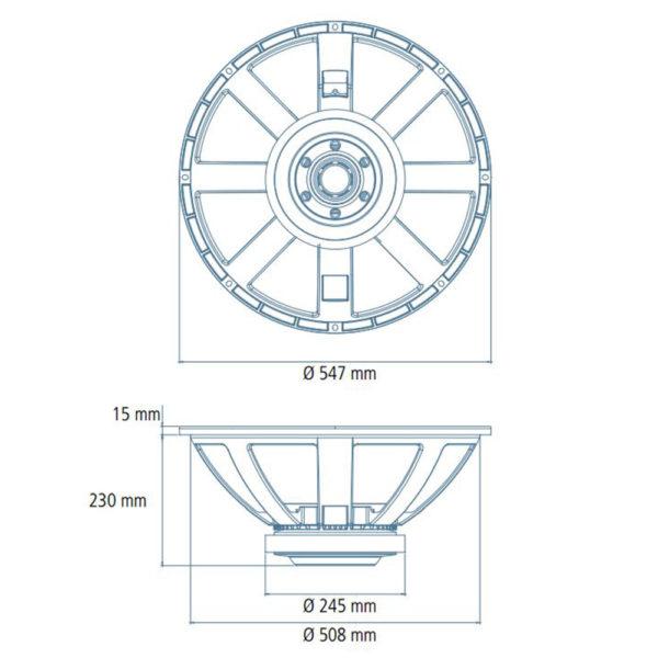 """RCF 21"""" LF21X451 speaker driver cone"""