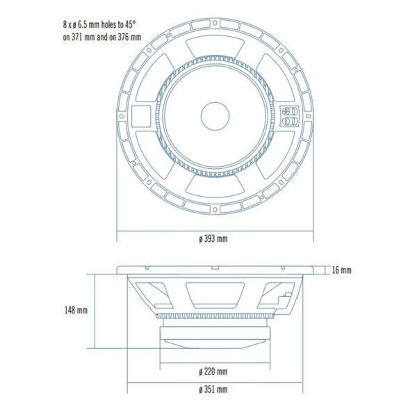 """RCF 15"""" MB15H401 woofer speaker"""