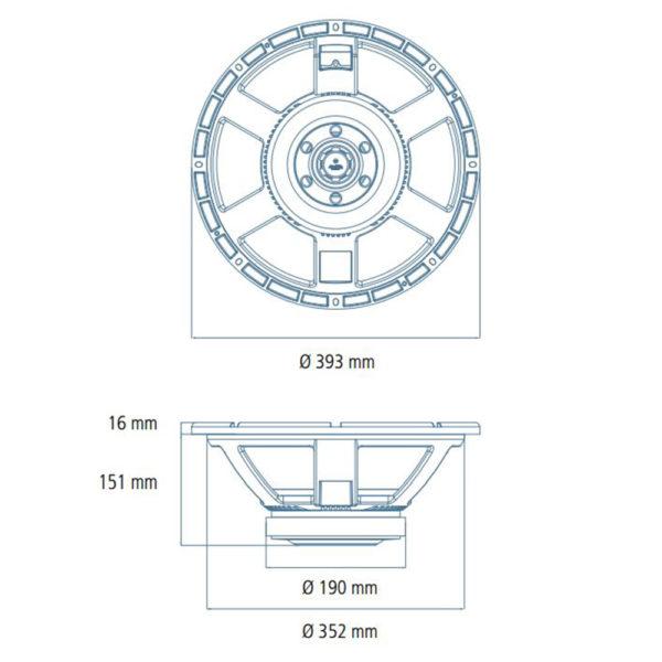 "RCF 15"" MB15X301 Speaker Cone"