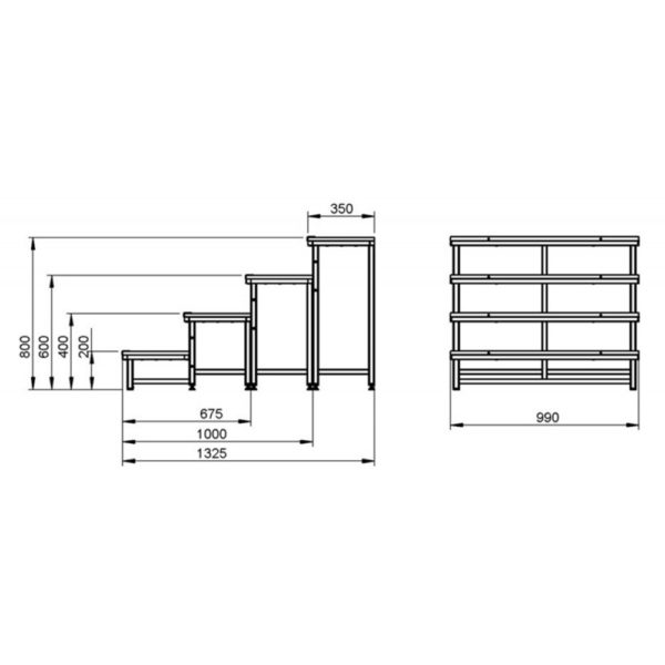 400mm Stage Platform Steps