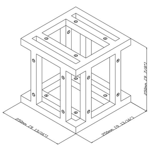 6 Way Quad Truss Cube Adapter