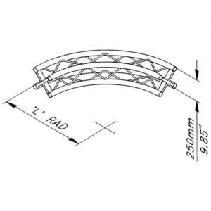 Quad Truss 1m Arch Section