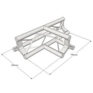 Triangle Truss 3 Way Apex Up