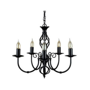5 Way Black Chandelier