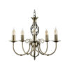 5 Way Brass Chandelier