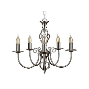 5 Way Nickel Chandelier