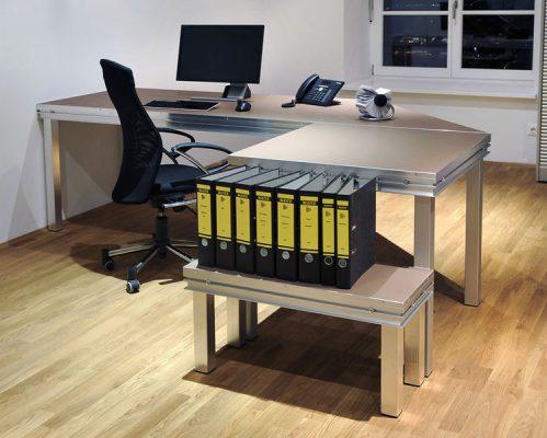 Large PC Workstation Office Desk