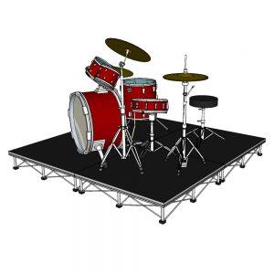 Drum Riser Stage 2m x 2m x 20cm