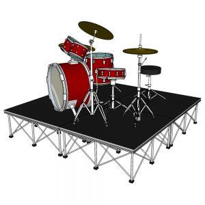 Drum Riser Stage 2m x 2m x 40cm