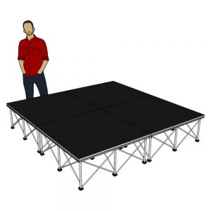 Portable Stage System 2m x 2m x 40cm