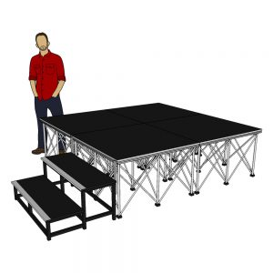 Portable Stage System 2m x 2m x 60cm