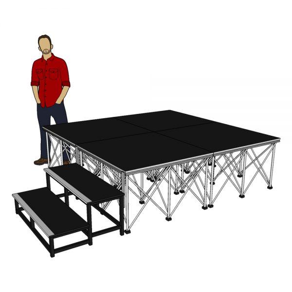 Stage platform System 2m x 2m x 60cm