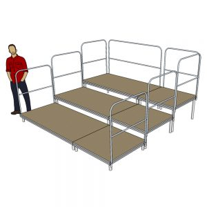 3m x 3m Tiered Seating System