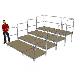 3m x 4m Tiered Seating System