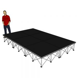 Portable Stage Package 3m x 2m x 40cm