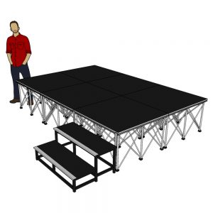 Portable Stage System 3m x 2m x 60cm