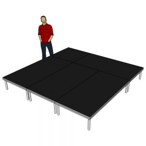 Stage Deck System 3m x 3m x 400mm
