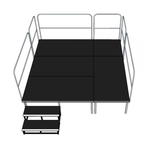 Stage Deck System 3x3m x 600mm