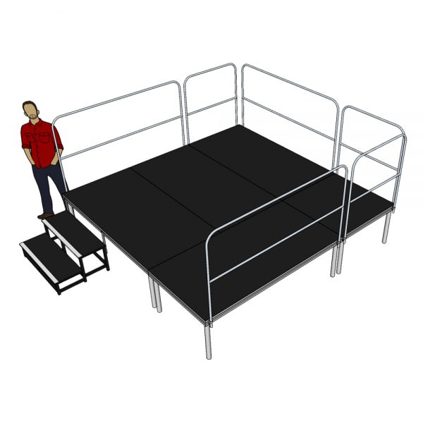 Stage Deck System 3m x 3m x 600mm