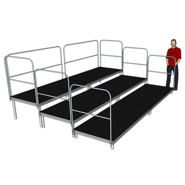 Tiered Stage Seating 4m x 3m