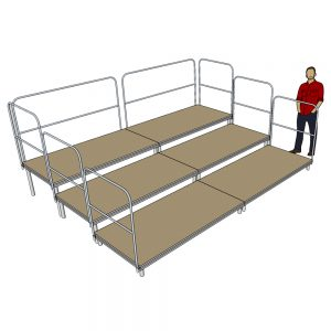 4m x 3m Tiered Seating System