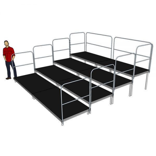 4m x 4m Tiered Seating System