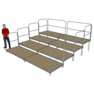 Tiered Stage Seating 4m x 4m