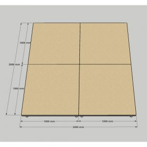 Drum Riser 4x1m Stage Wood