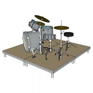 Drum Riser 4 x 1m Decks 20cm