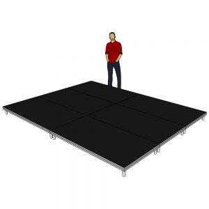 Stage Deck System 4m x 3m x 200mm