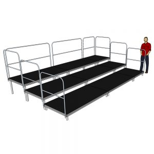 m x 3m Tiered Seating System