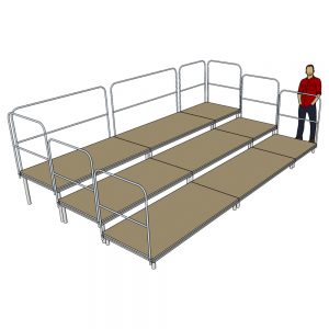 Tiered Stage Seating 5m x 3m