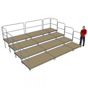 Tiered Stage Seating 5m x 4m