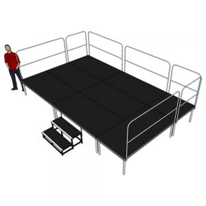 Stage Deck System 5m x 3m x 600mm