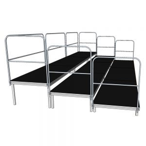 6x3m Tiered Stage Package Anti Slip