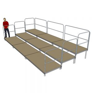 Tiered Stage Seating 6m x 3m