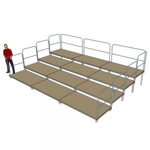 Tiered Stage Seating 6m x 4m
