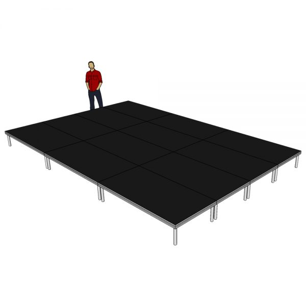Stage Deck System 6m x 4m x 400mm