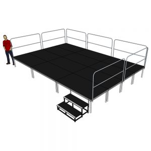 Stage Deck System 6m x 4m x 600mm