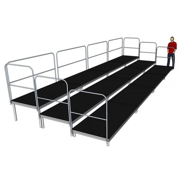 8m x 3m Tiered Seating System